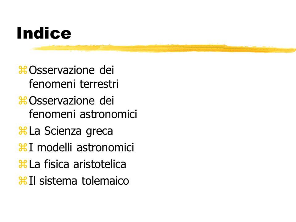 Indice Osservazione dei fenomeni terrestri
