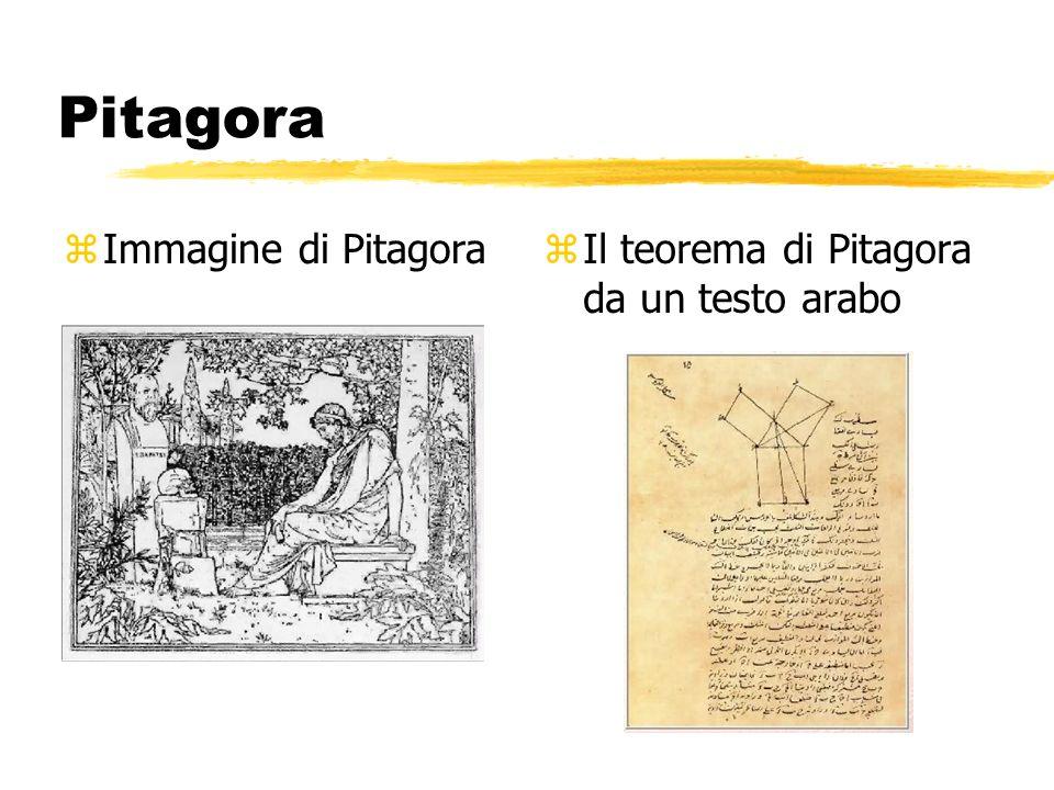 Pitagora Immagine di Pitagora Il teorema di Pitagora da un testo arabo