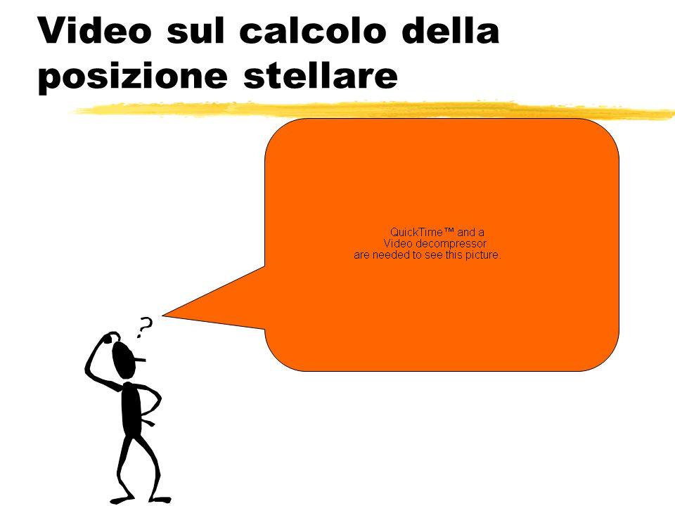 Video sul calcolo della posizione stellare