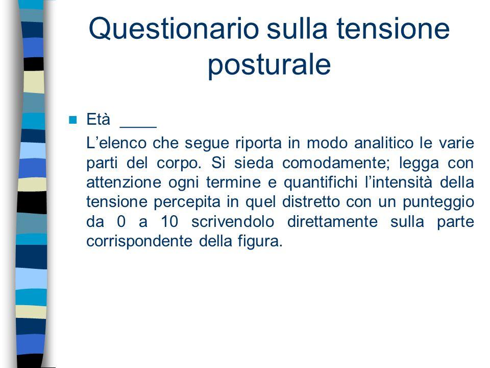 Questionario sulla tensione posturale
