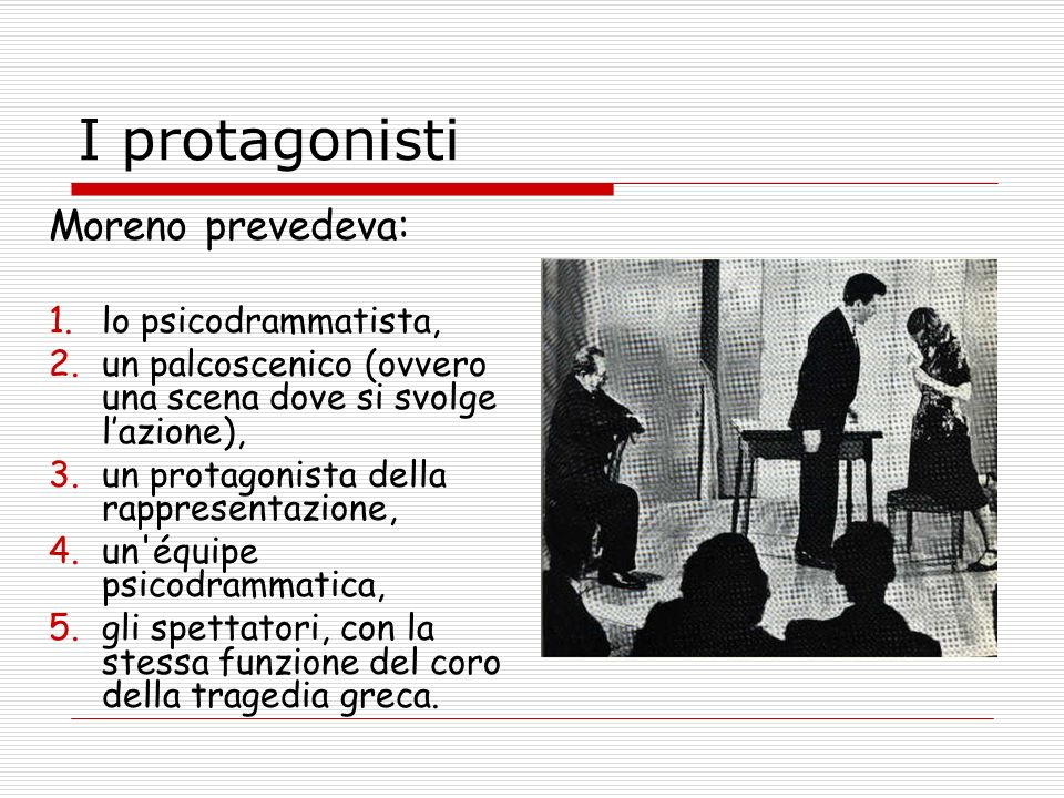 I protagonisti Moreno prevedeva: lo psicodrammatista,
