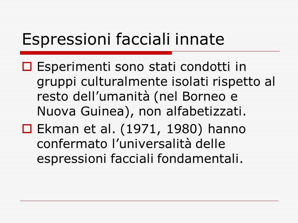 Espressioni facciali innate