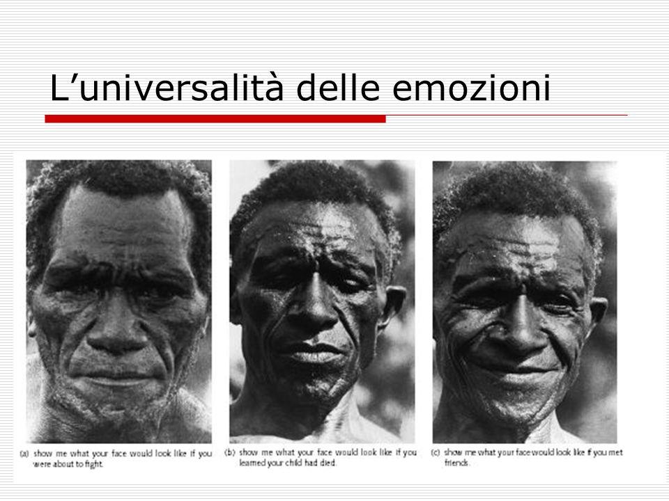L'universalità delle emozioni