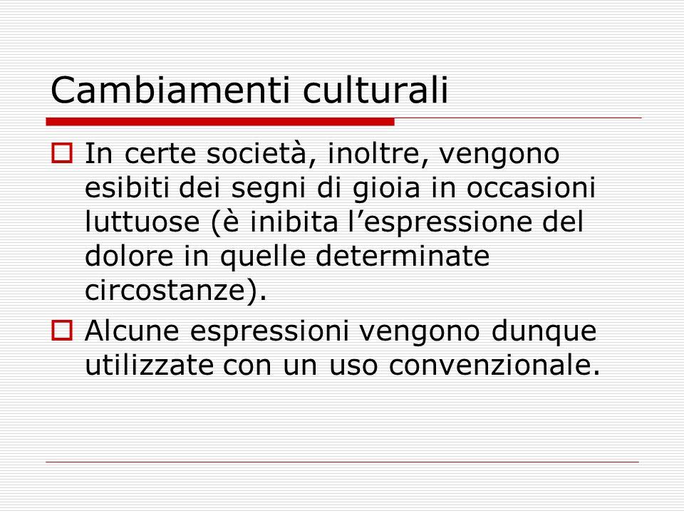 Cambiamenti culturali