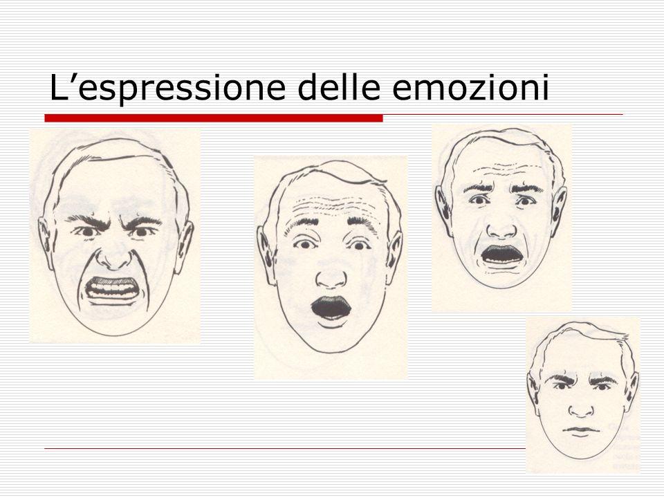 L'espressione delle emozioni