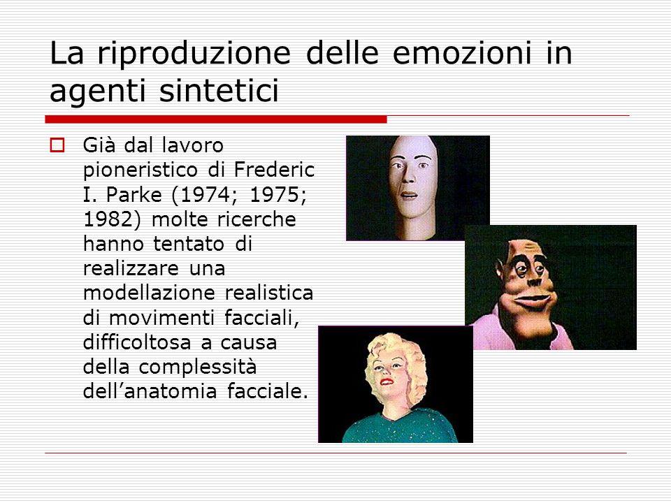 La riproduzione delle emozioni in agenti sintetici