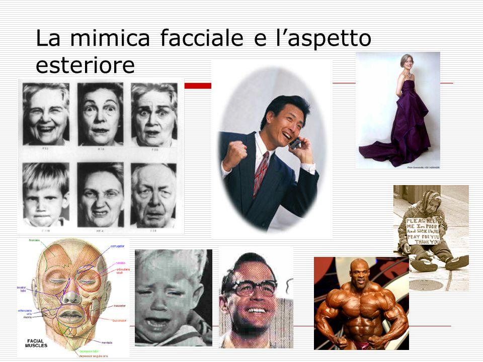 La mimica facciale e l'aspetto esteriore
