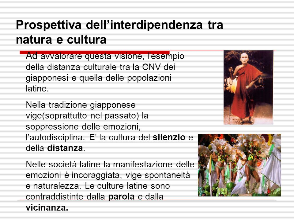 Prospettiva dell'interdipendenza tra natura e cultura