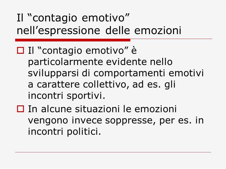 Il contagio emotivo nell'espressione delle emozioni