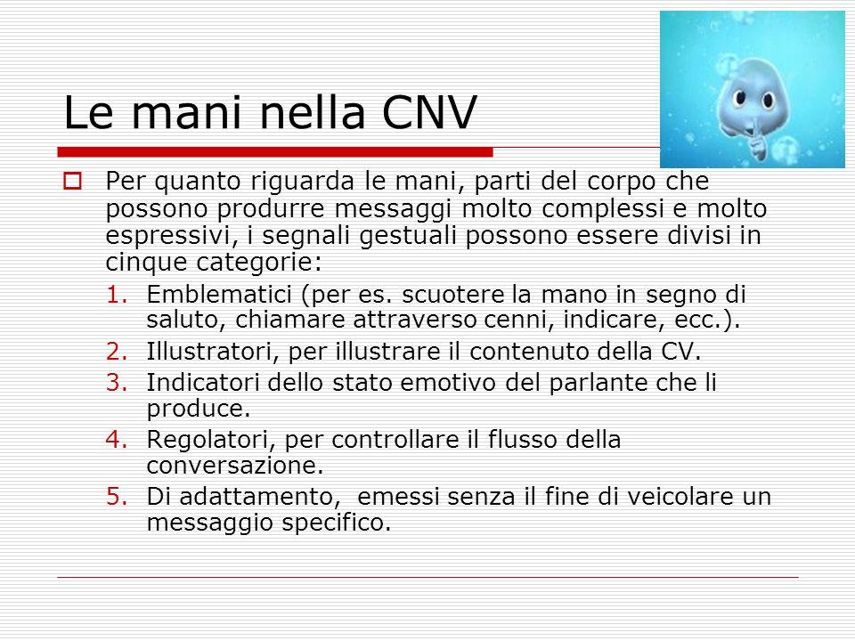Le mani nella CNV