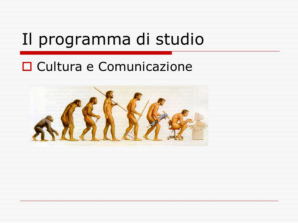 Il programma di studio Cultura e Comunicazione