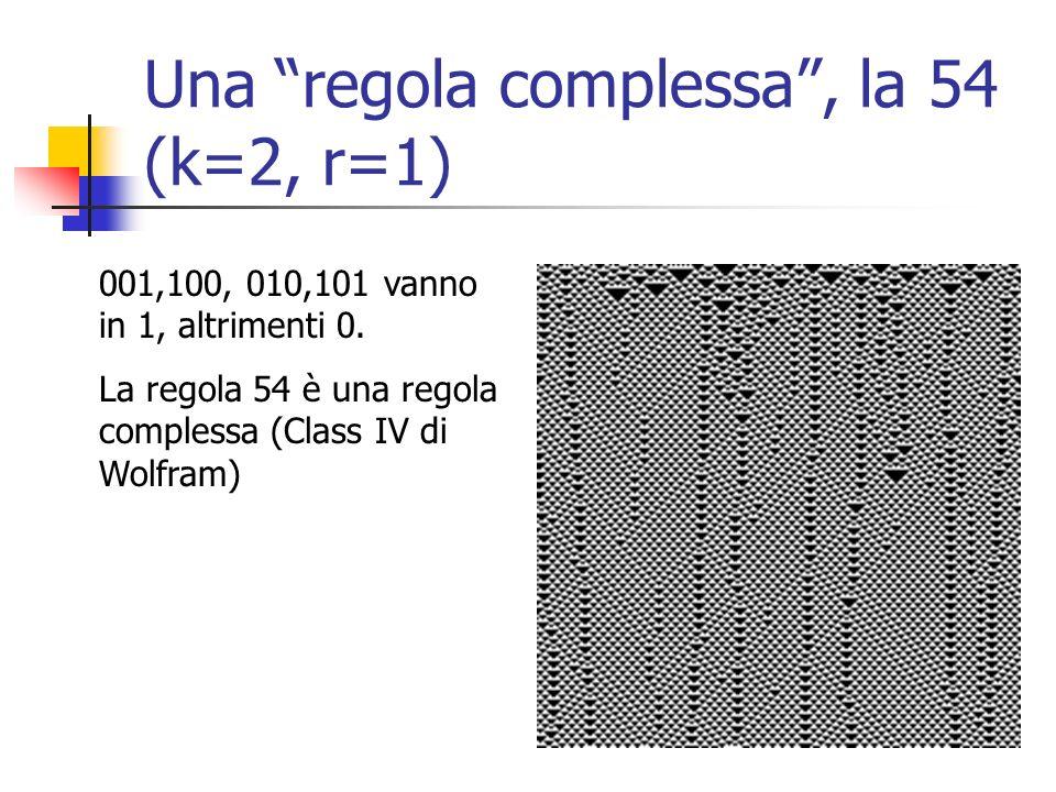 Una regola complessa , la 54 (k=2, r=1)
