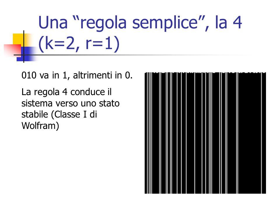 Una regola semplice , la 4 (k=2, r=1)