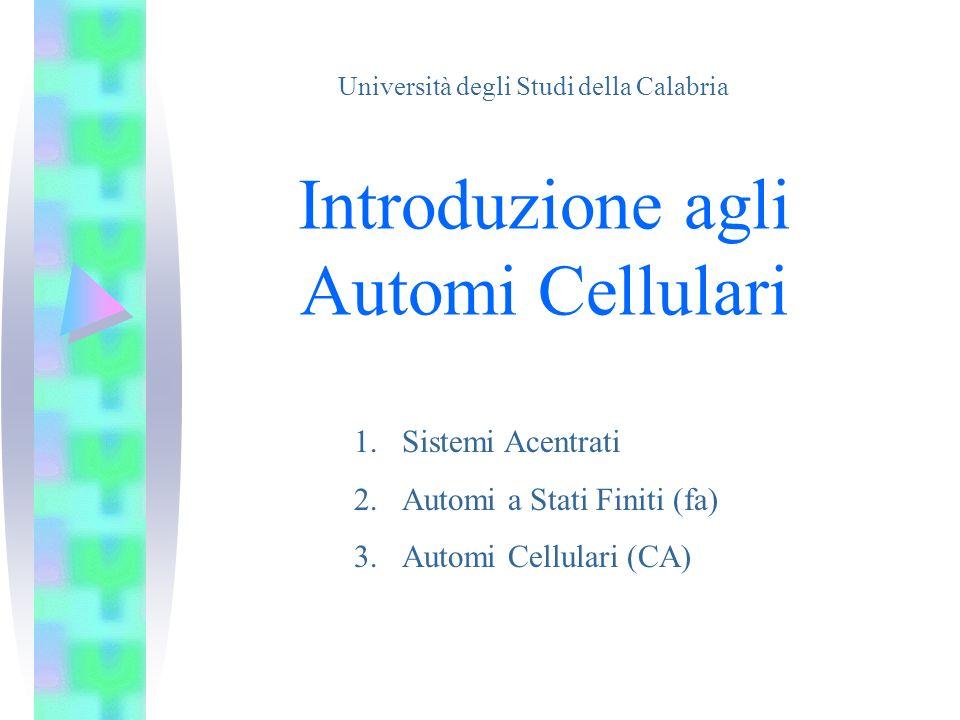 Introduzione agli Automi Cellulari