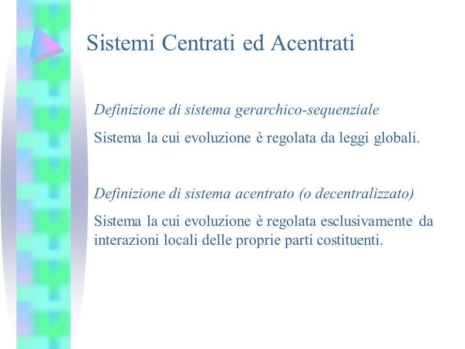 Sistemi Centrati ed Acentrati