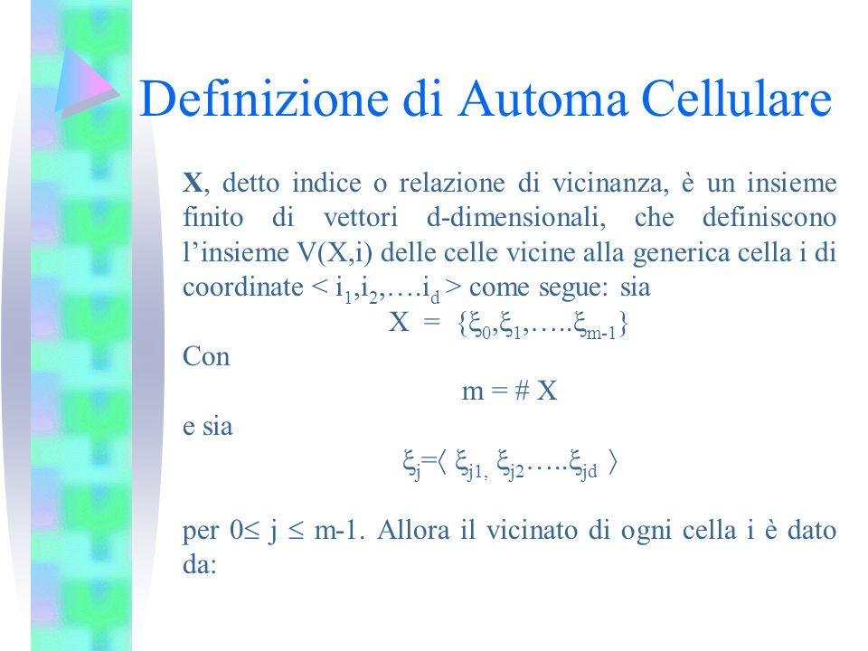 Definizione di Automa Cellulare