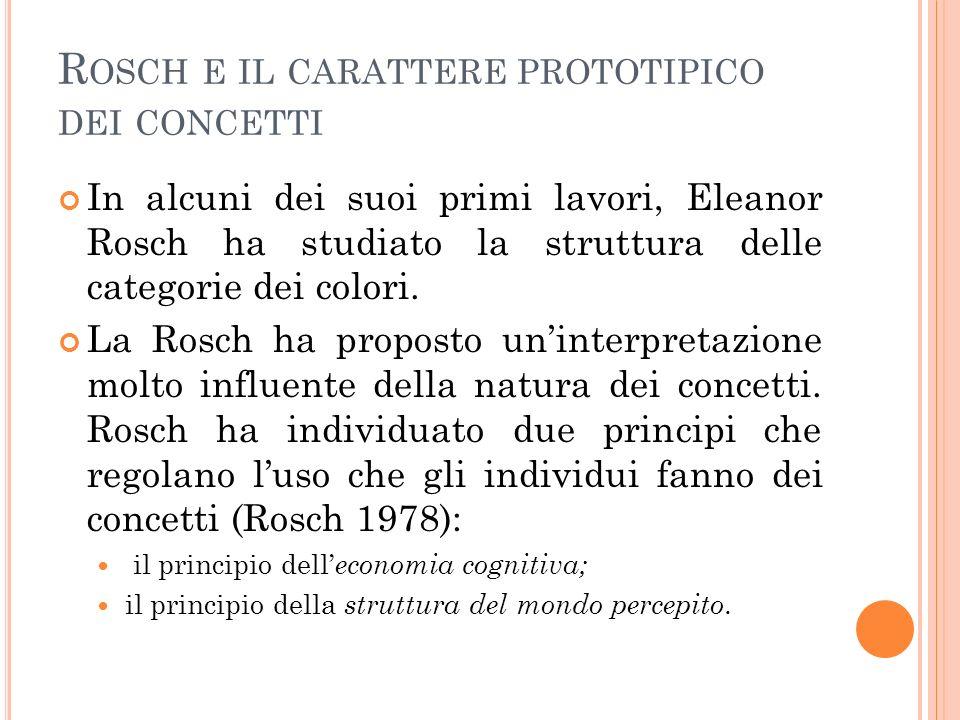 Rosch e il carattere prototipico dei concetti