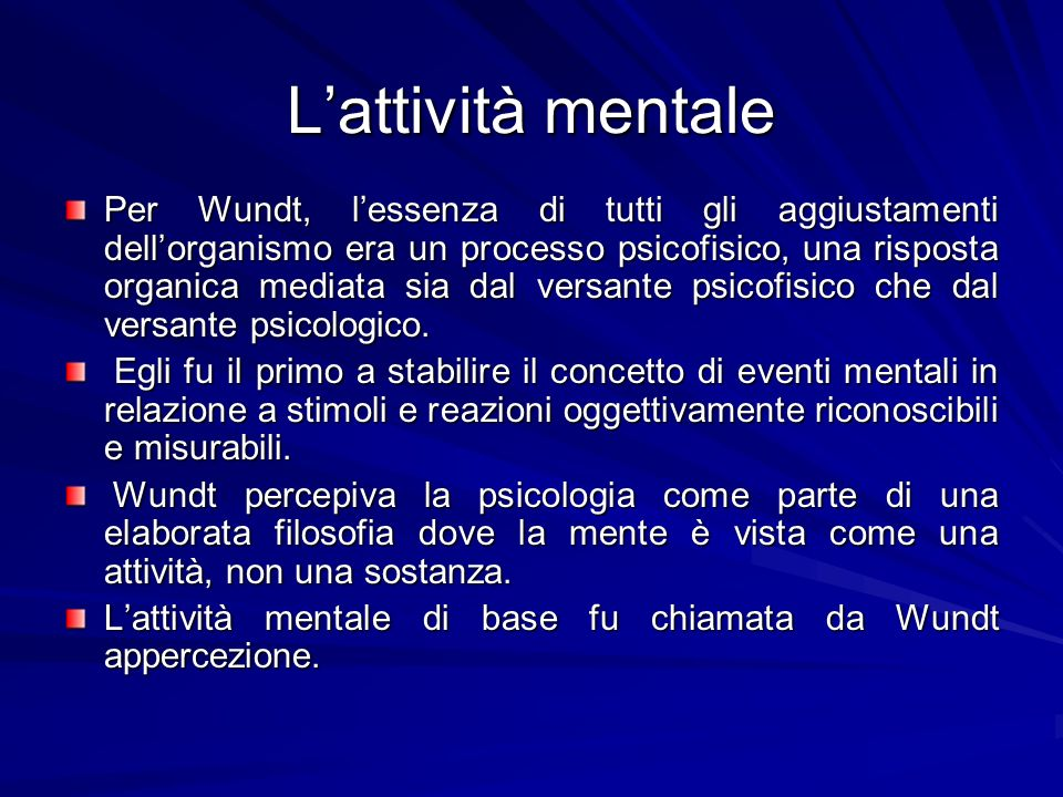 L'attività mentale