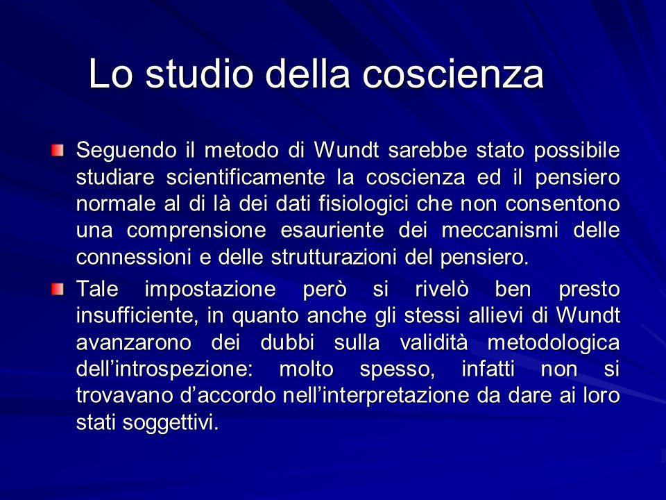 Lo studio della coscienza