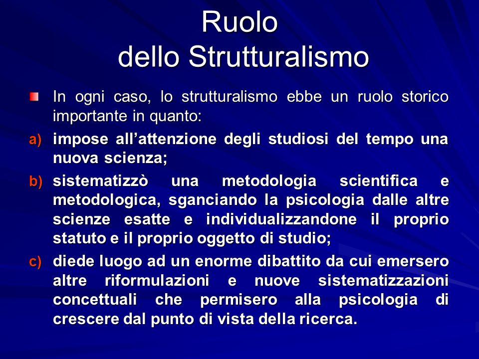 Ruolo dello Strutturalismo