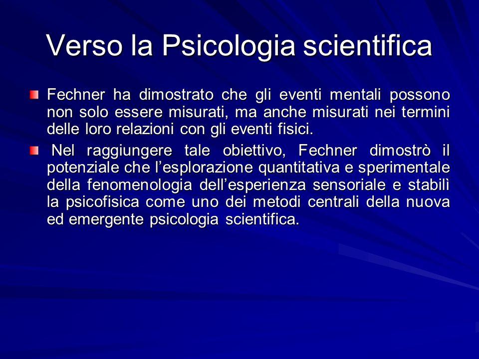 Verso la Psicologia scientifica