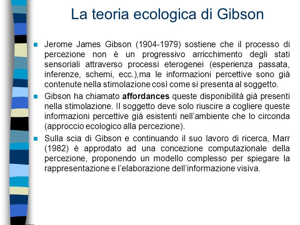 La teoria ecologica di Gibson