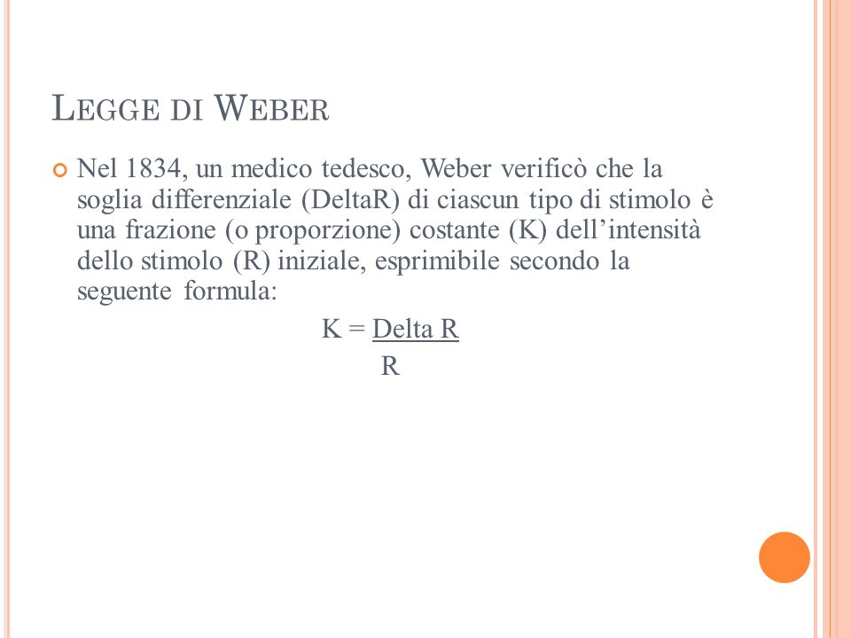 Legge di Weber