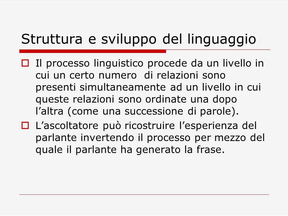 Struttura e sviluppo del linguaggio