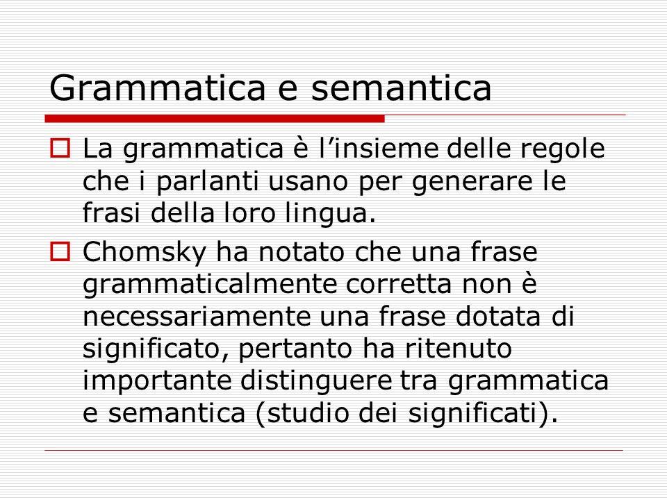 Grammatica e semantica
