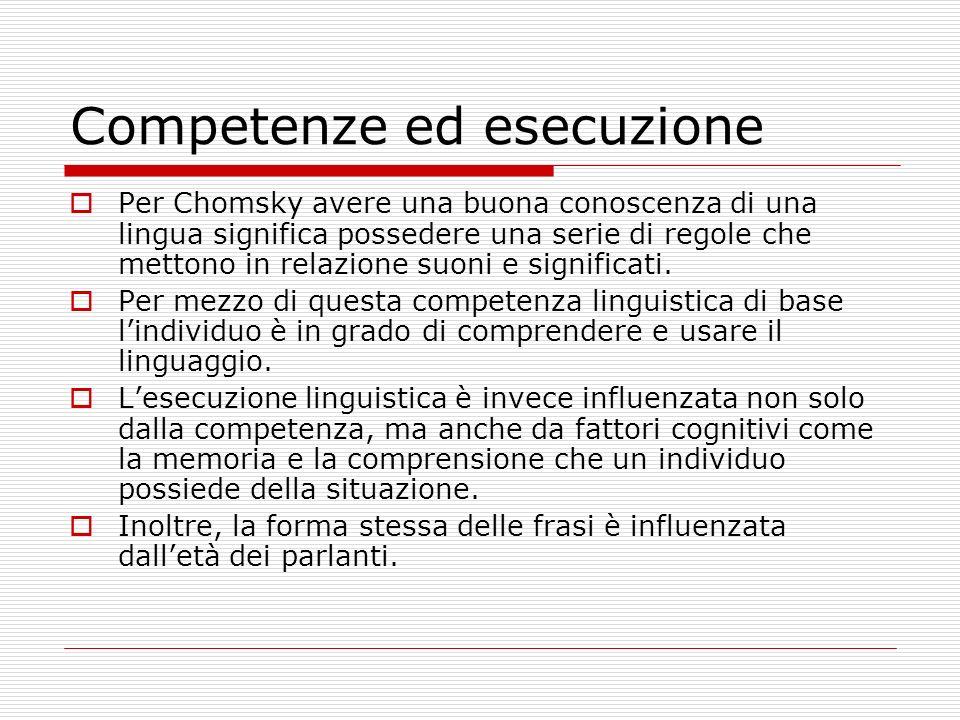 Competenze ed esecuzione