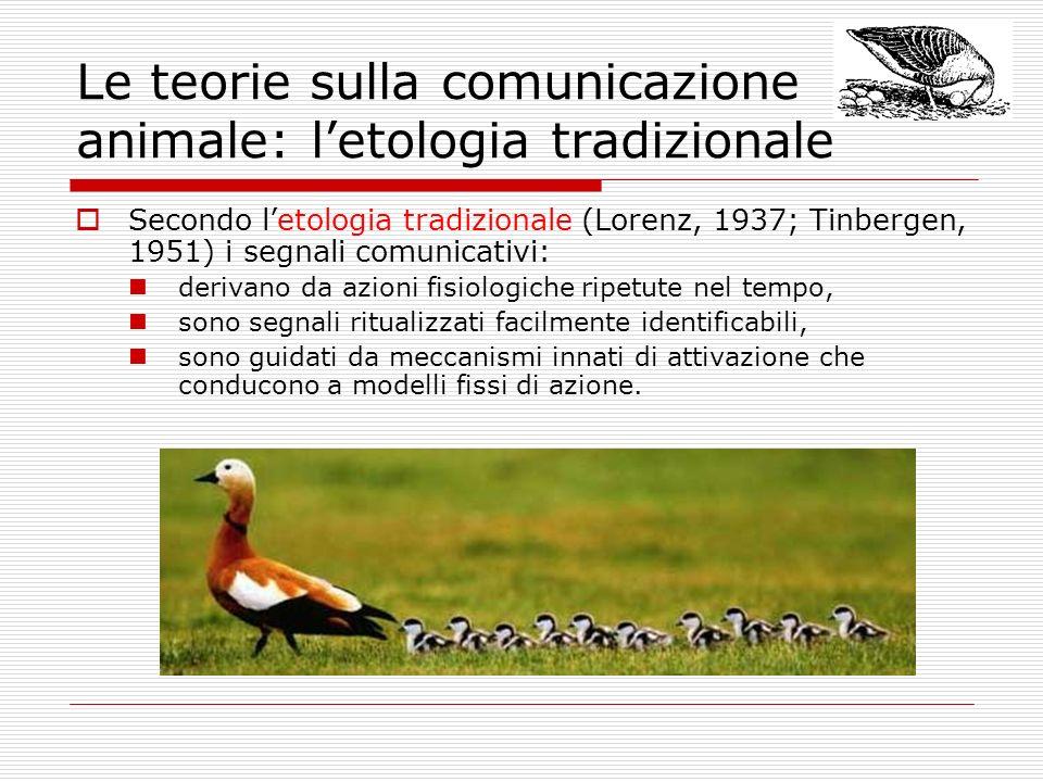 Le teorie sulla comunicazione animale: l'etologia tradizionale