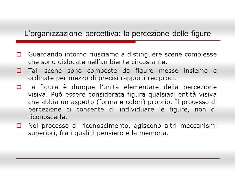 L'organizzazione percettiva: la percezione delle figure