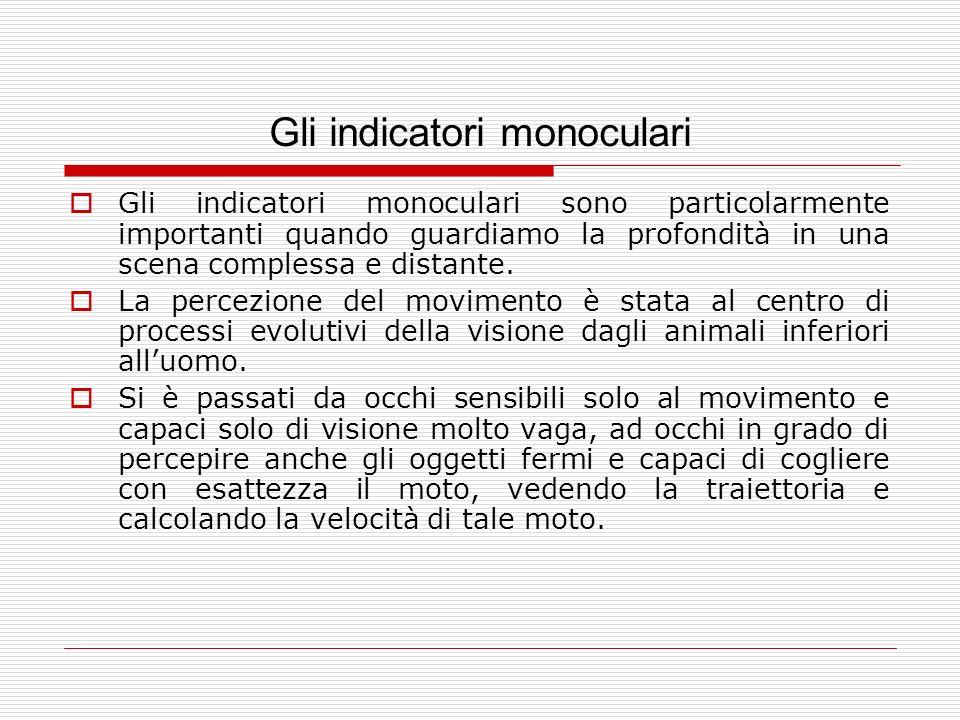 Gli indicatori monoculari