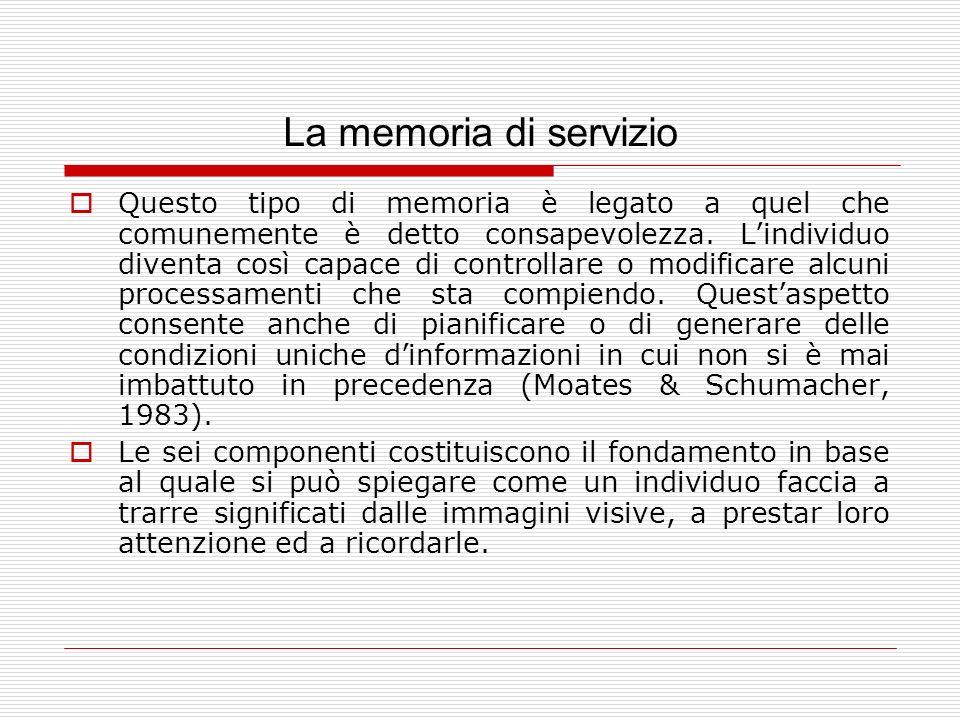 La memoria di servizio