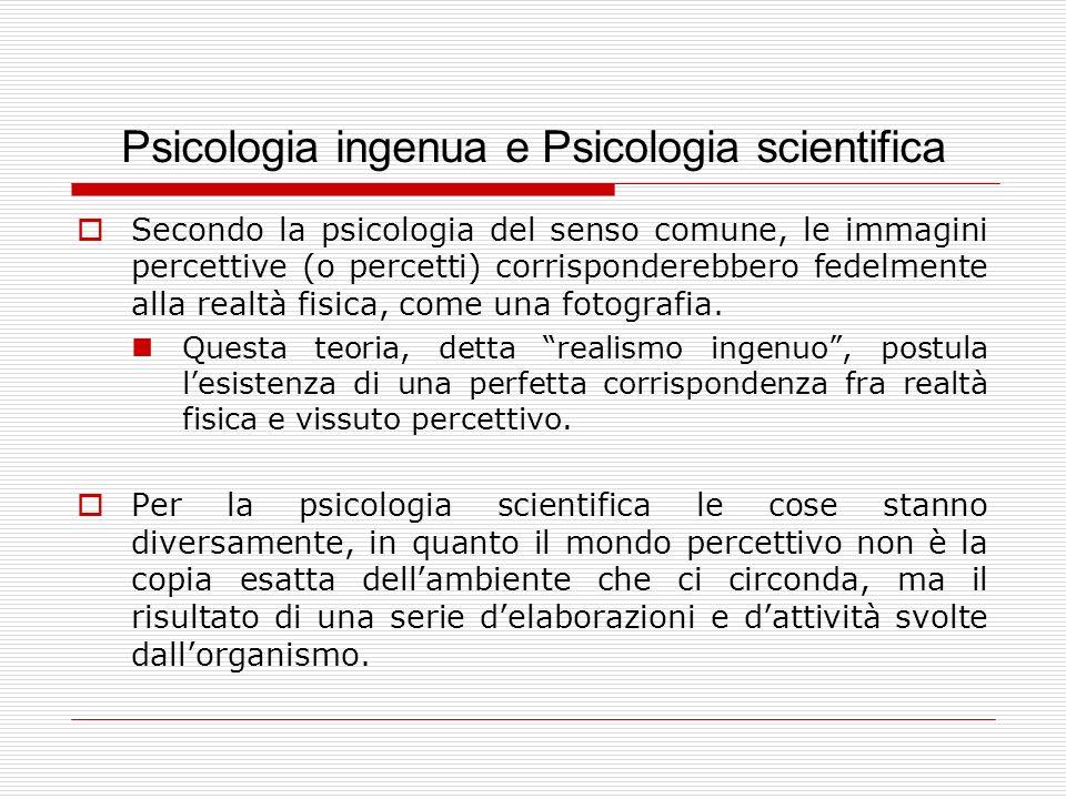 Psicologia ingenua e Psicologia scientifica