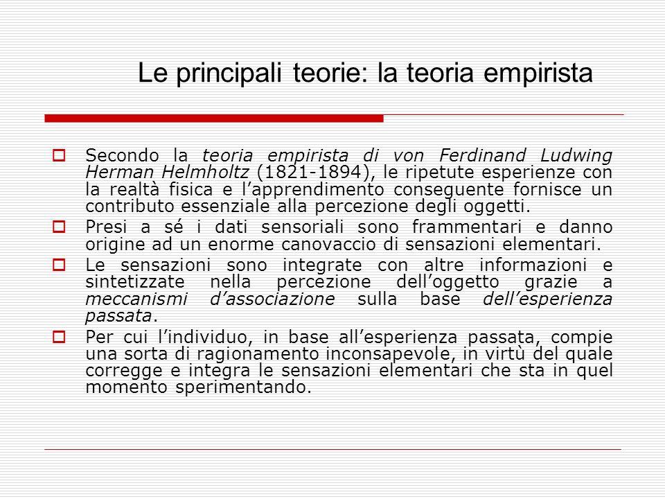 Le principali teorie: la teoria empirista