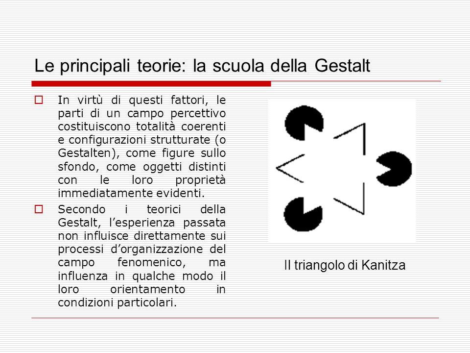 Le principali teorie: la scuola della Gestalt