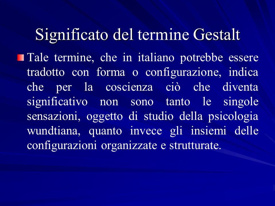 Significato del termine Gestalt