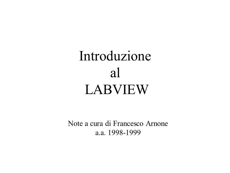 Introduzione al LABVIEW