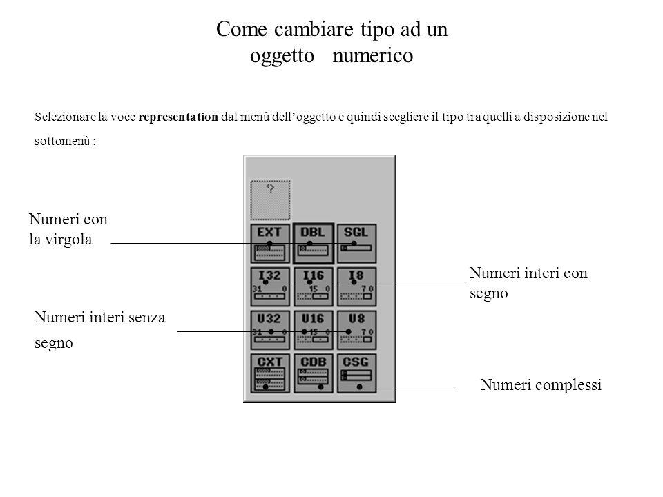 Come cambiare tipo ad un oggetto numerico