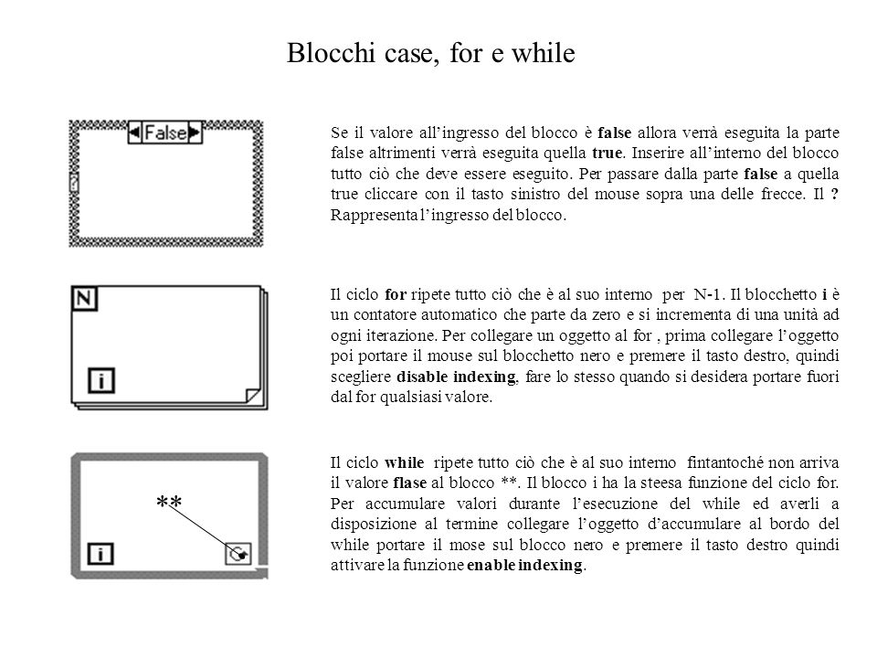 Blocchi case, for e while