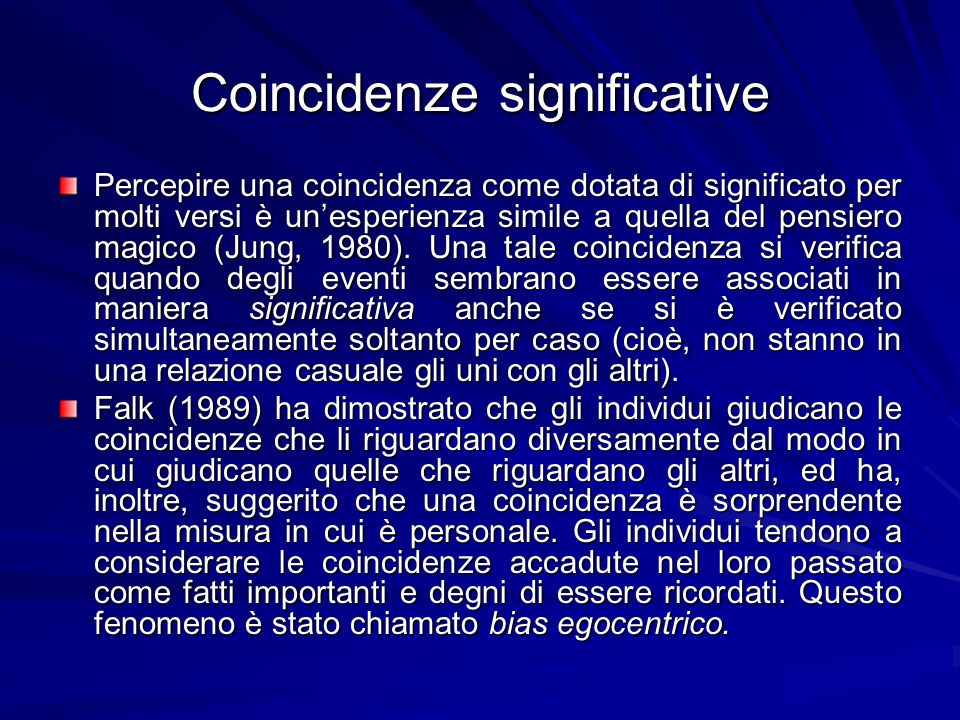 Coincidenze significative