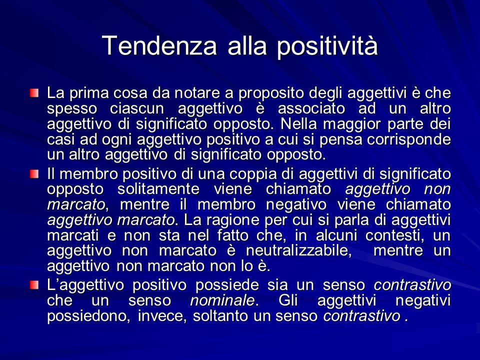 Tendenza alla positività