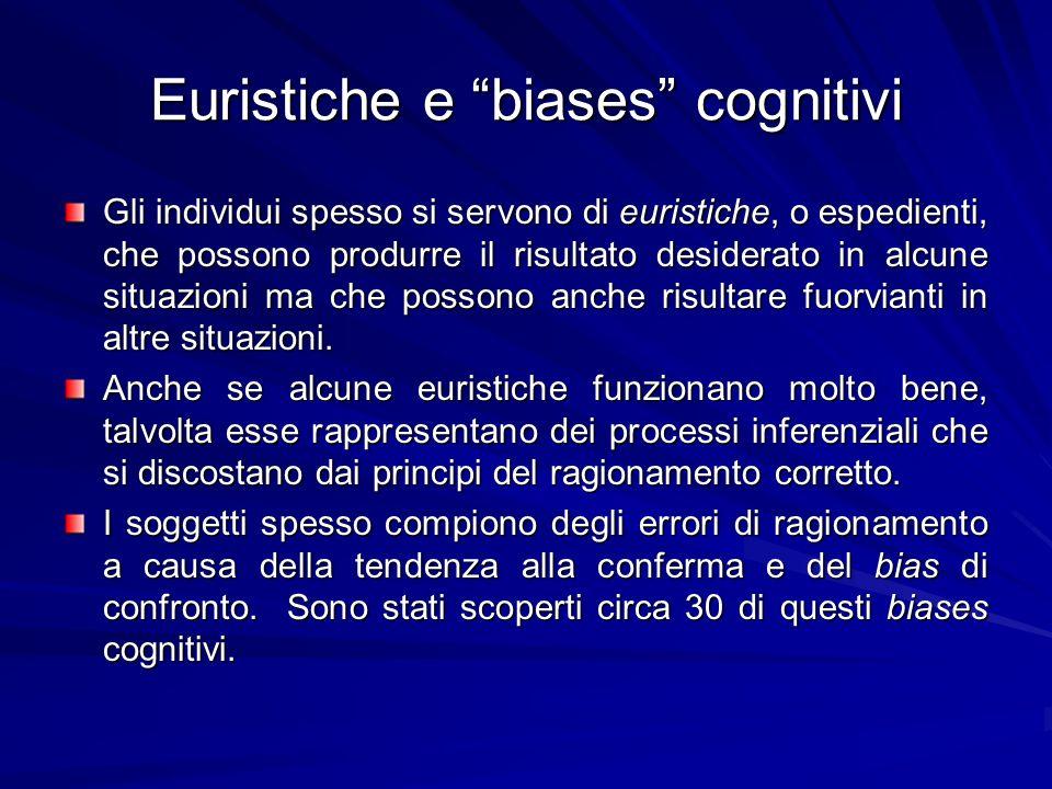 Euristiche e biases cognitivi