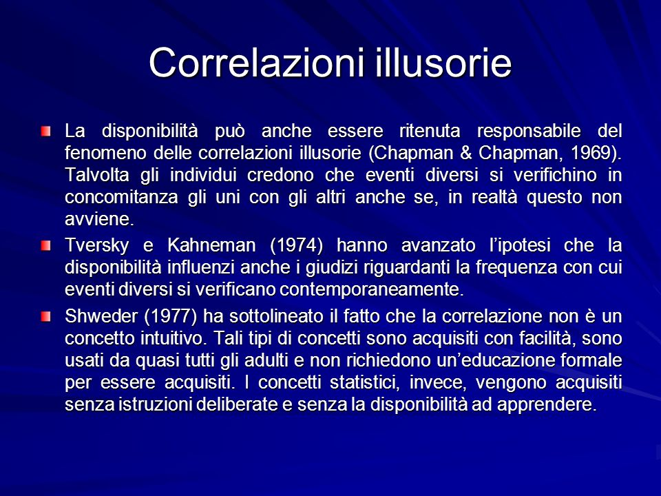 Correlazioni illusorie