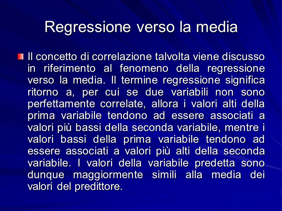 Regressione verso la media