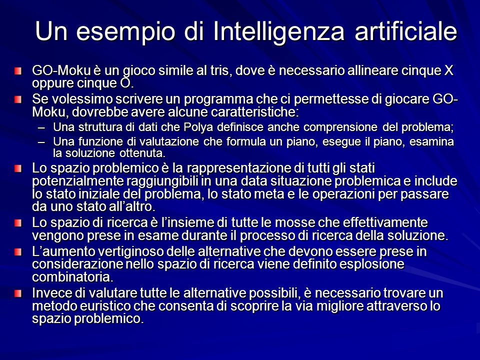 Un esempio di Intelligenza artificiale