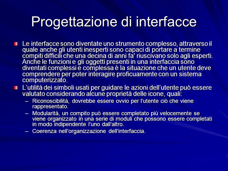 Progettazione di interfacce