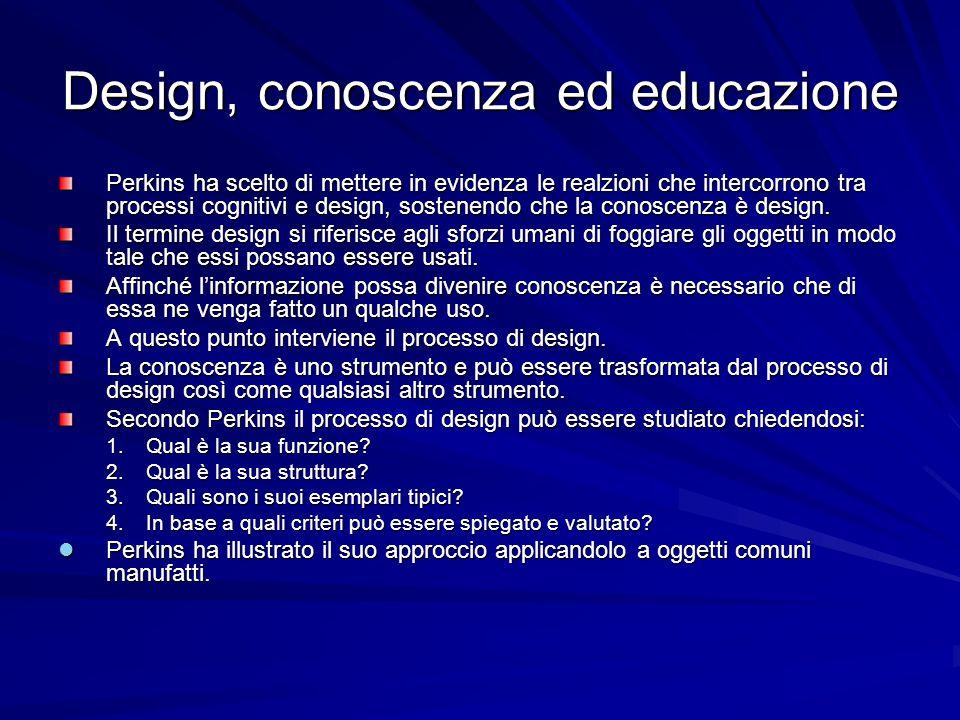 Design, conoscenza ed educazione