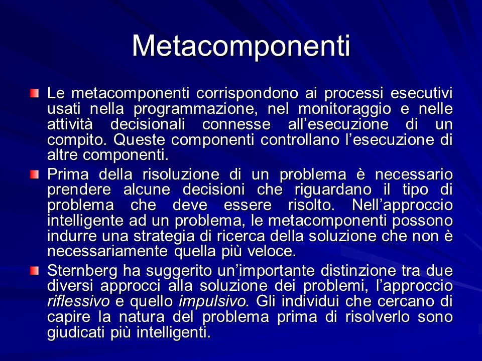 Metacomponenti